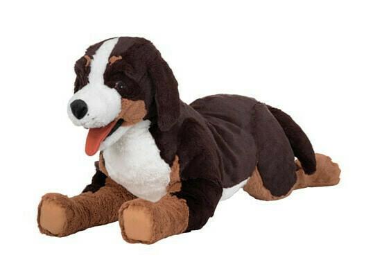 ХОППИГ Мягкая игрушка, собака, бернская овчарка белый