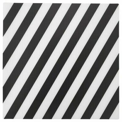 Салфетка под приборы ПИПИГ, в полоску, черный/белый, 37x37 см