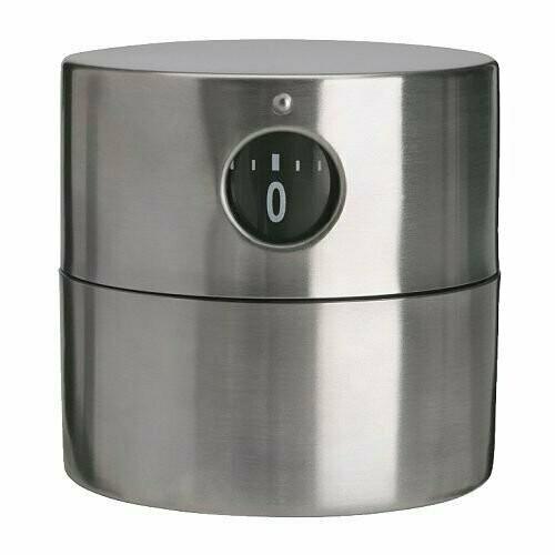 Таймер ОРДНИНГ, нержавеющая сталь, 6х6 см