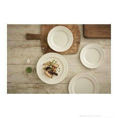 ВАРДАГЕН Тарелка десертная, белый с оттенком, 21 см