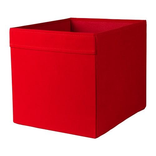 ДРЁНА коробка, красный/33x38x33 см