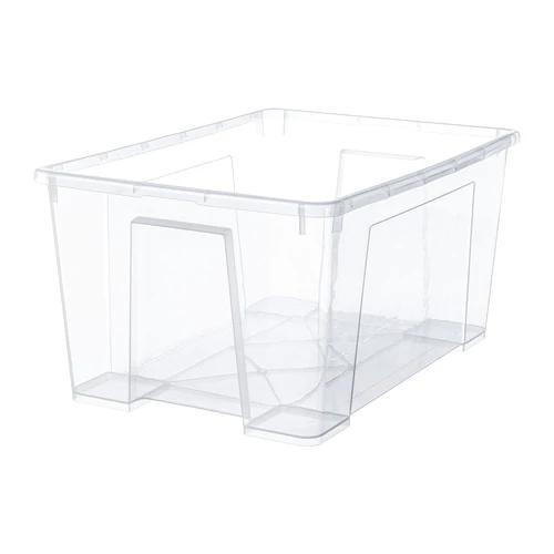 САМЛА Контейнер, прозрачный  56x39x28 см/45 л