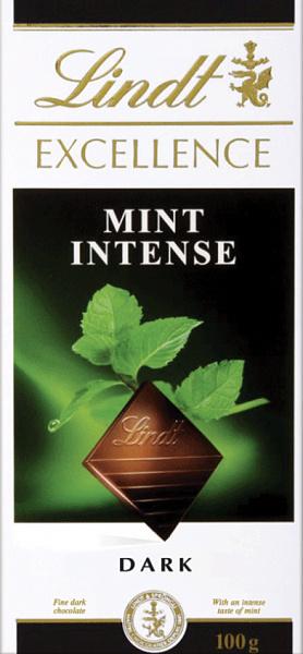 Шоколад темный Линдт Экселленс Мята 100г