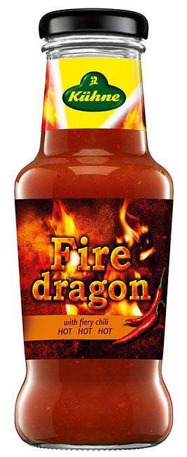 """Соус томатный с острым перцем чили """"Fire dragon"""" Kuhne"""