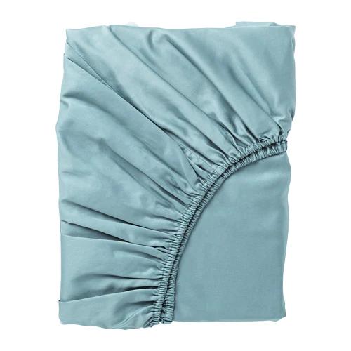 НАТТЭСМИН Простыня натяжная, синий, 140х200 см