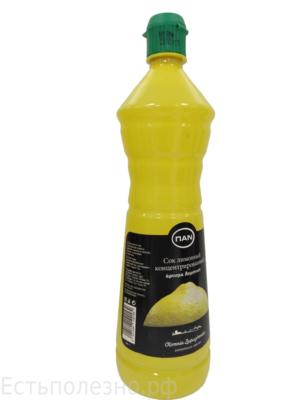 Сок лимонный концентрированный пл. бут 0,4л.