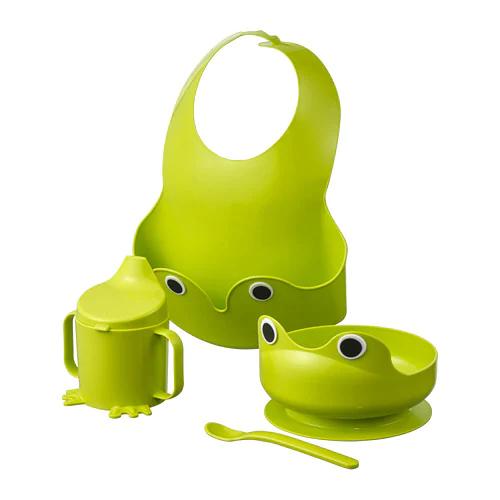 МАТА Набор посуды, 4 предметов, зеленый