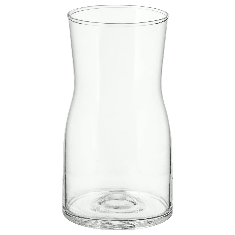 ТИДВАТТЕН Ваза 18 см прозрачное стекло