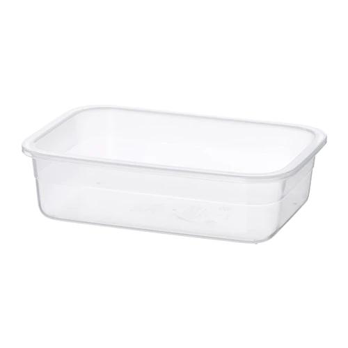 Контейнер для продуктов, прямоугольной формы, пластик, 1.0 л