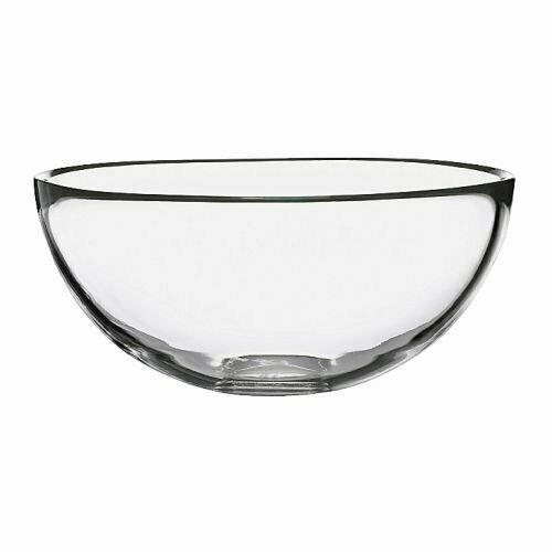 Сервировочная миска БЛАНДА, прозрачное стекло, 20 см