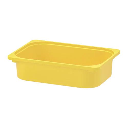 ТРУФАСТ Контейнер, желтый 42x30x10