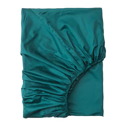 НАТТЭСМИН Простыня натяжная, темно-зеленый 180х200