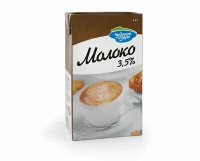 """Молоко """"Чудское озеро"""" ультрапастеризованное питьевое, мдж 3,5% 1 литр"""