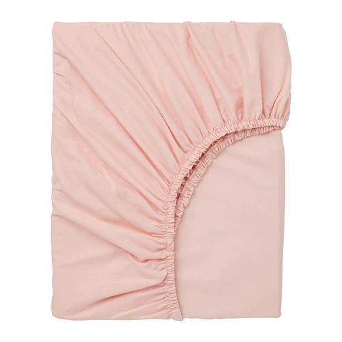 ДВАЛА Простыня натяжная, светло-розовый 160х200