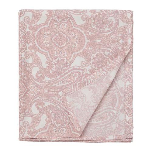 ЙЭТТЕВАЛЛМО Простыня, белый, розовый  150х260