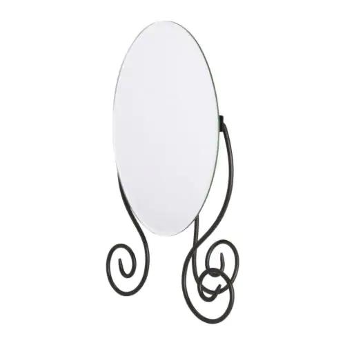 МЮКЕН Зеркало настольное, темно-коричневый  25x37 см