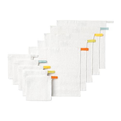 КРАМА Полотенце,  белый, 10 шт, 30x30 см
