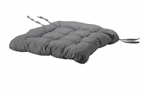 ХЭЛЛЬВИ, подушка на стул,  серый 40x38x5 см