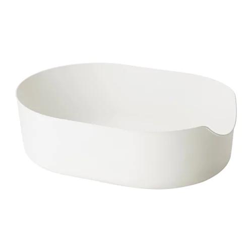 ЛУРВИГ Лоток для наполнителя, белый 37x51 см