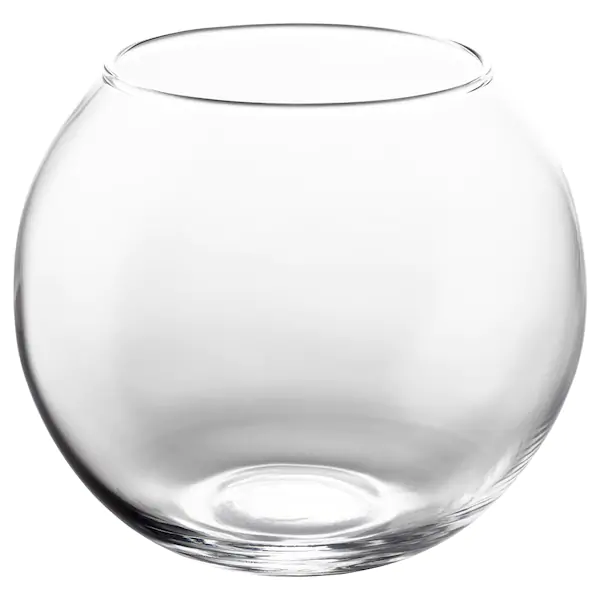 КРОНТ- Ваза , прозрачное стекло, 10 см