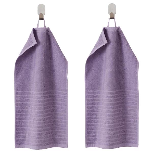ВОГШЁН Полотенце, фиолетовый/ 2 шт  30x50 см