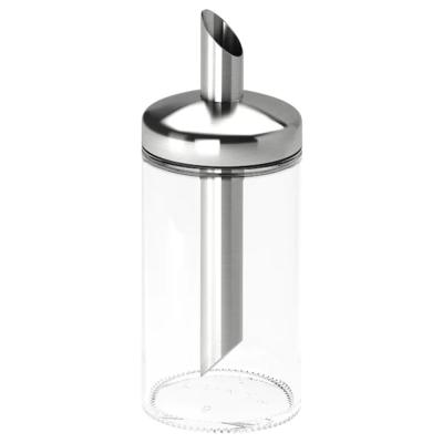 ДОЛЬД Дозатор сахара, прозрачное стекло, нержавеющ сталь, 15 см
