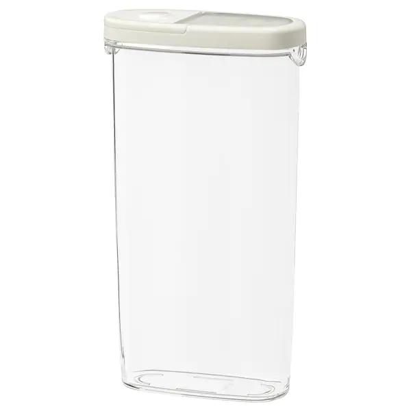 Контейнер+крышка д/сухих продуктов, прозрачный, белый, 2.3 л