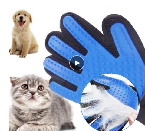 Перчатки для чесания собак