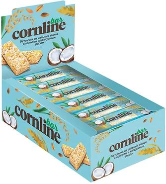 Батончик «Cornline» из цельных злаков с кокосом и воздушным рисом, 30 г
