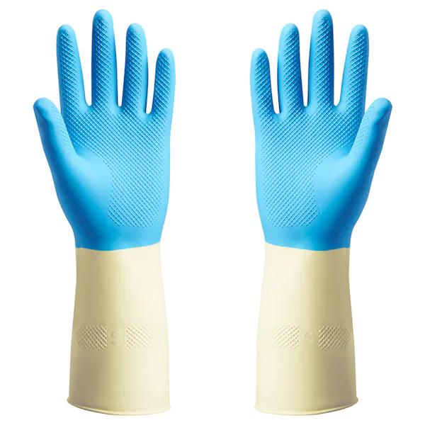 ПОТКЕС Резиновые перчатки, синий, S