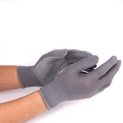 Перчатки, х/б, с нейлоновой нитью, с ПВХ точками,серые, «Точка»