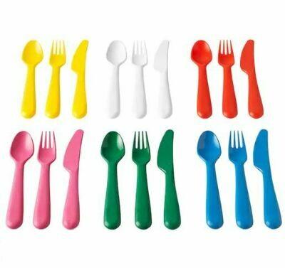 КАЛАС Столовые приборы, 18 предметов, разноцветный