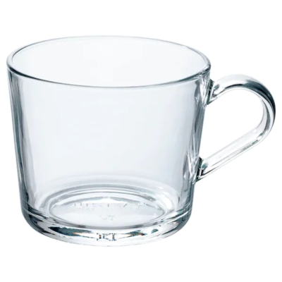 Кружка, прозрачное стекло, 24 сл