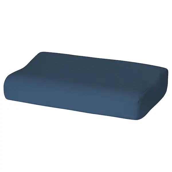 РОЛЛЕКА Наволочка д/подушки(ппу/эфф памяти), темно-синий, 33x50 см