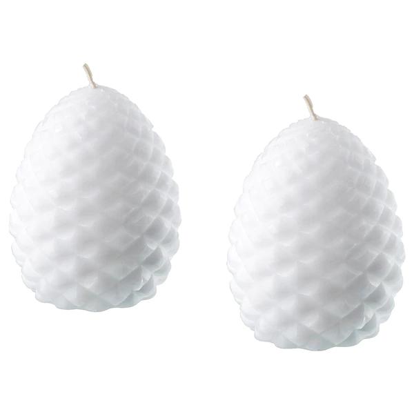 ВИНТЕРФЕСТ Неароматич свеча формовая, шишка, белый, 8 см