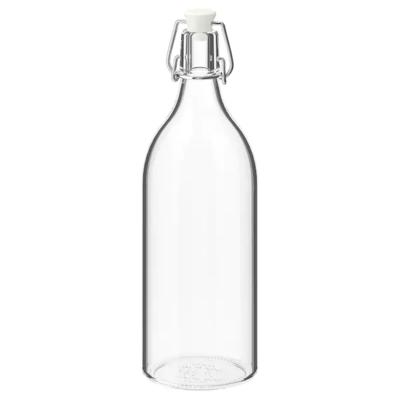КОРКЕН Бутылка с пробкой, прозрачное стекло, 1 л
