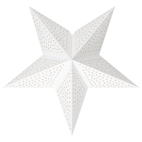 СТРОЛА Абажур, точечный белый, 48 см