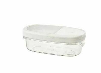 Контейнер+крышка д/сухих продуктов, прозрачный, белый