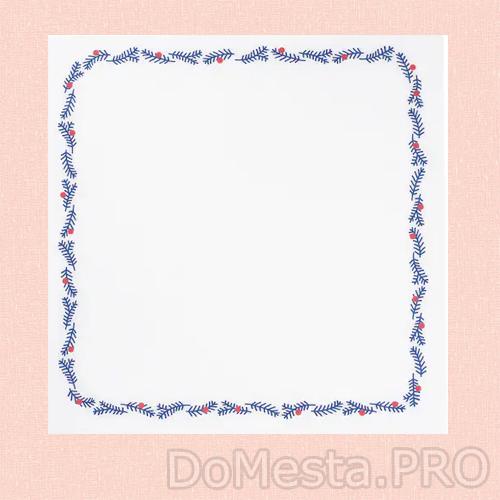 ВИНТЕРФЕСТ Салфетка под приборы, с рисунком, синий/красный, 37x37 см
