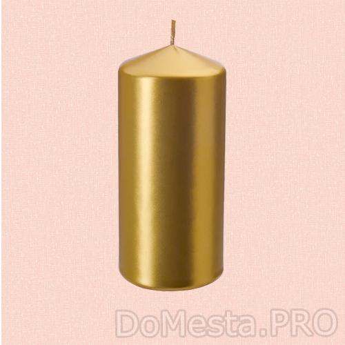 ВИНТЕРФЕСТ Неароматич свеча формовая, золотой, 15 см