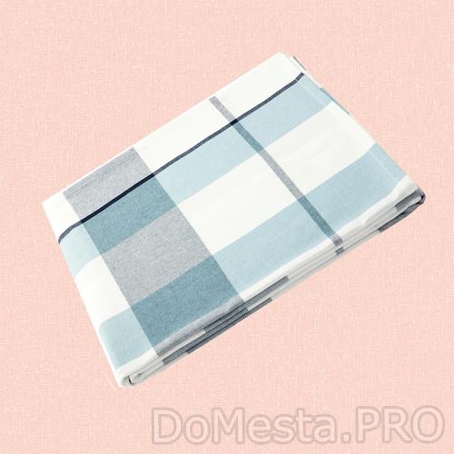 РУТИГ Скатерть, клетчатый орнамент синий, 145x240 см