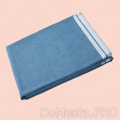 СЕВЭРД Скатерть, темно-синий, 145x240 см