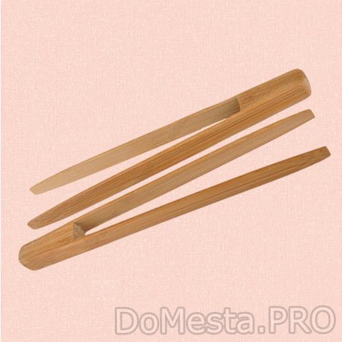 Остбит Щипцы для тостов и закусок, 20 см Материал: бамбук