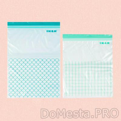 Пакет пластиковый, ИСТАД, бирюзовый, светлая бирюза, 30 шт