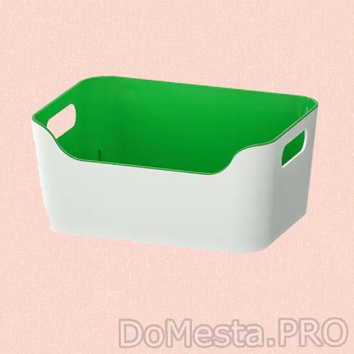 ВАРЬЕРА Контейнер, зеленый, 24x17 см