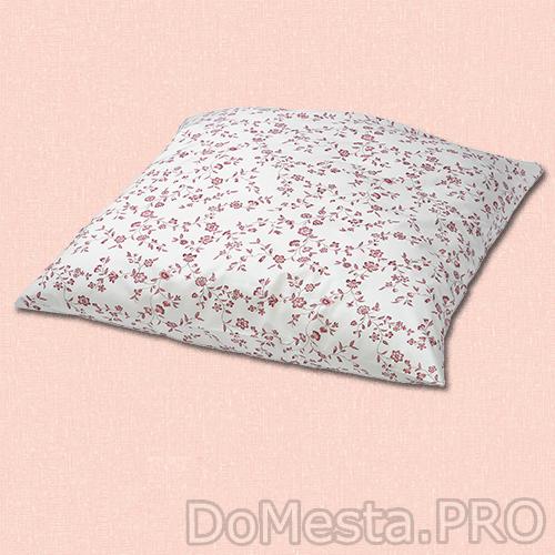 ХЭССЛЕКЛОККА Наволочка, белый, розовый, 70x70 см