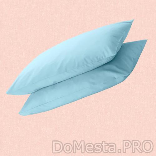 ДВАЛА Наволочка, голубой, 50x70 см