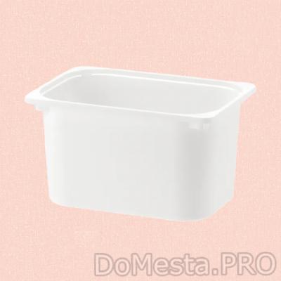 ТРУФАСТ Контейнер, белый, 42x30x23 см