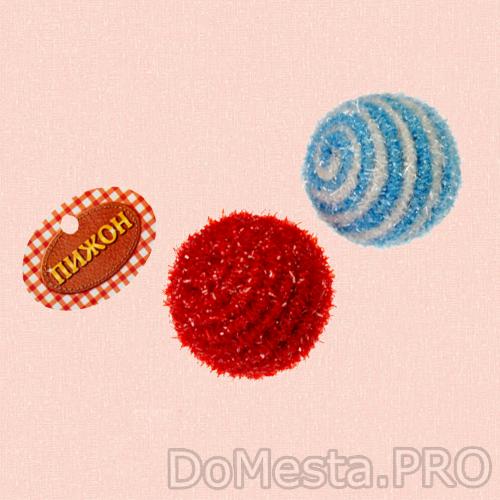 Шар-погремушка блестящий двухцветный, 5 см, микс цветов