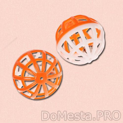Набор из 2 шариков-погремушек, диаметр 4 см, микс цветов